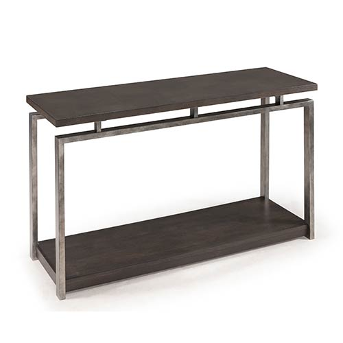 Magnussen Home Alton Platinum Charcoal Sofa Table