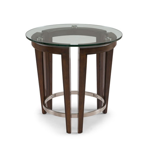 Magnussen Home Carmen Round End Table in Hazelnut