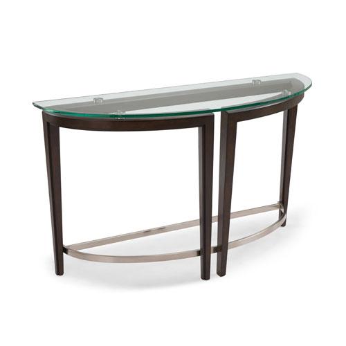 Carmen Demilune Sofa Table in Hazelnut