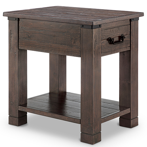 Magnussen Home Pine Hill Rectangular End Table in Rustic Pine