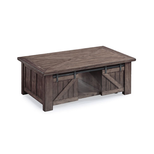 Garrett Rectangular Lift-Top Cocktail Table with Casters