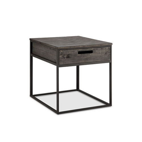 Magnussen Home Claremont Rectangular End Table in Weathered Charcoal