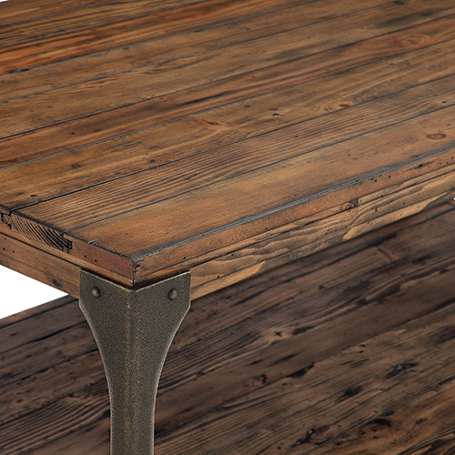 Magnussen Home Montgomery Industrial Reclaimed Wood Round