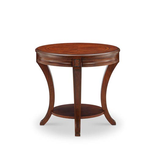 Winslet Oval End Table in Cherry