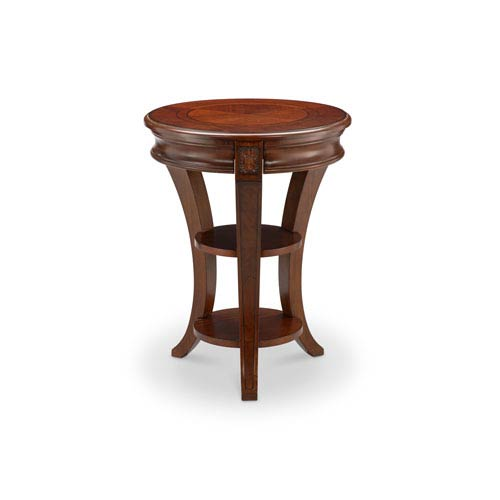 Winslet Round Accent Table in Cherry