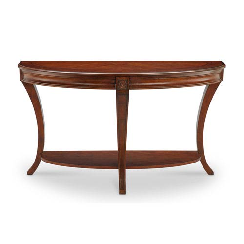 Magnussen Home Winslet Demilune Sofa Table in Cherry