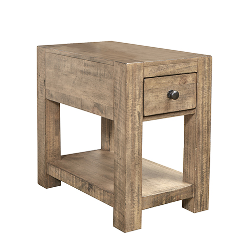 Magnussen Home Griffith Weathered Toffee Rectangular Chairside End Table