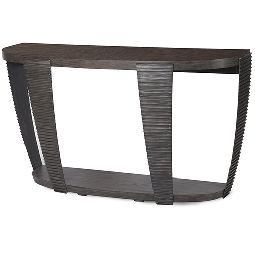 Kendrick Contemporary Chocolate and Aged Pewter Entryway Table