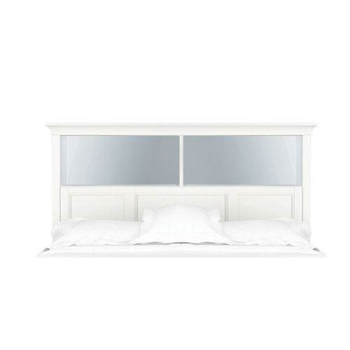 Kenley White Twin Bookcase Bed Headboard Only
