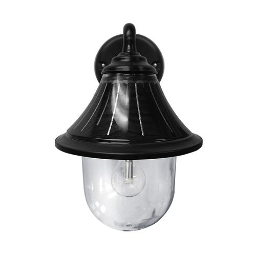 Orion Black 11-Light LED Solar Wall Light
