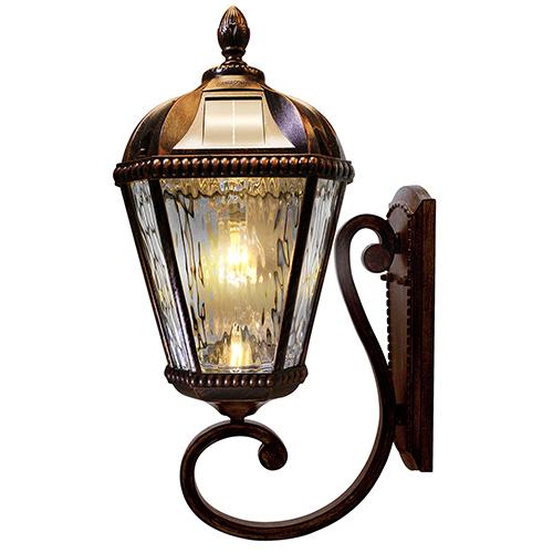 Royal Brushed Bronze LED Solar Wall Light