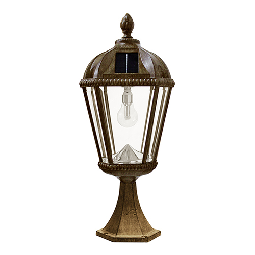 Royal Weathered Bronze LED Solar Deck Light