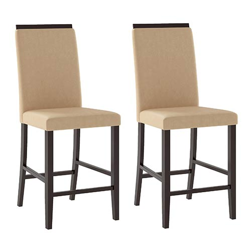Bistro Cappuccino and Desert Sand Dining Chair, Set of Two