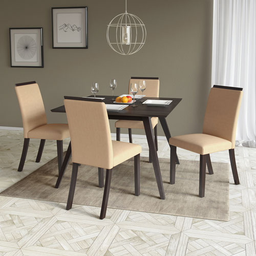 CorLiving Bistro Desert Sand Dining Chairs, Set of 2