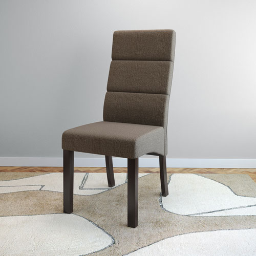 Corliving Antonio Tall Back Brown Upholstered Dining Chairs Set Of 2