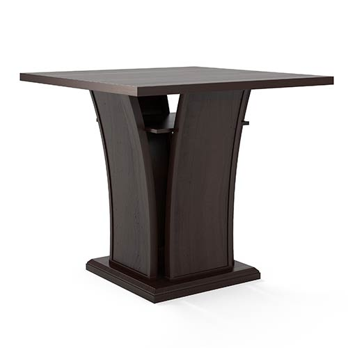 CorLiving Bistro Cappuccino Counter Height Dining Table with Curved Base