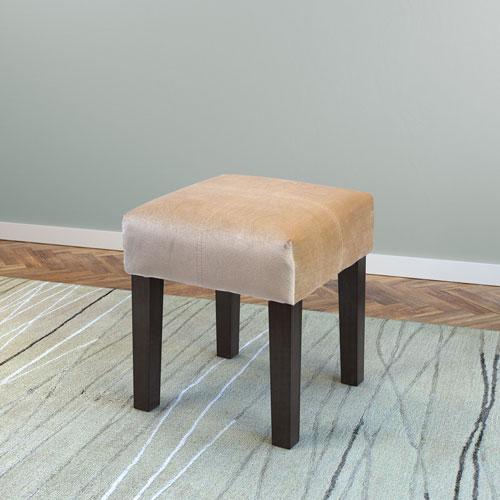 Antonio 16-Inch Square Bench in Cream Velvet