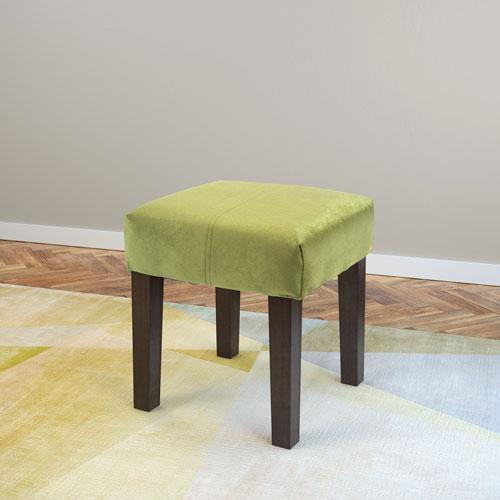 CorLiving Antonio 16-Inch Square Bench in Green Velvet
