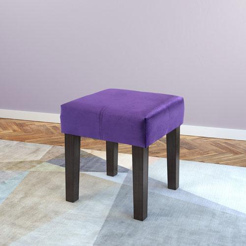 CorLiving Antonio 16-Inch Square Bench in Purple Velvet