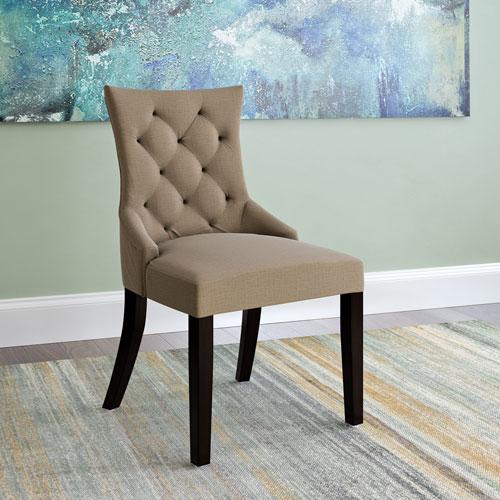 Antonio Accent Chair in Beige Fabric, Set of 2