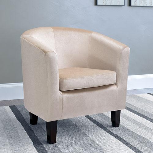 Antonio Tub Chair in Cream Velvet