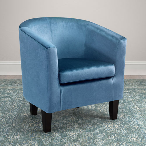 Antonio Tub Chair in Blue Velvet