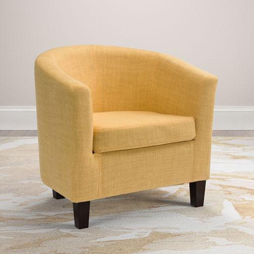 Antonio Tub Chair in Yellow Fabric