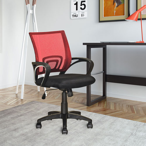 CorLiving Workspace Red Mesh Back Office Chair