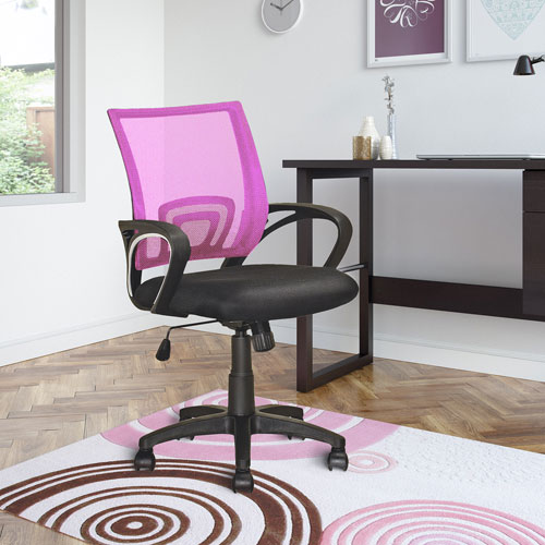 CorLiving Workspace Pink Mesh Back Office Chair