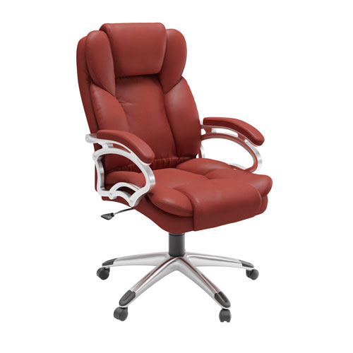 Workspace Executive Office Chair in Brick Red Leatherette