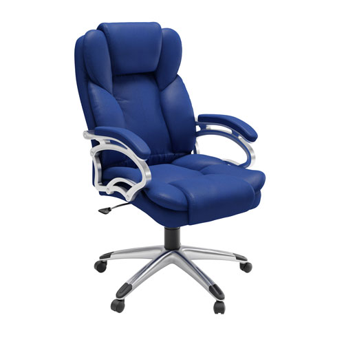 Workspace Executive Office Chair in Cobalt Blue Leatherette