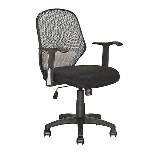 CorLiving Workspace Black 36.5-Inch High Swivel Office Chair