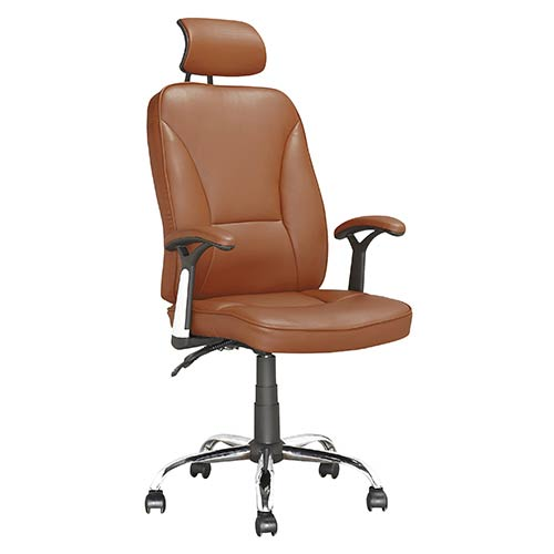 CorLiving Workspace Light Brown Executive Swivel Office Chair