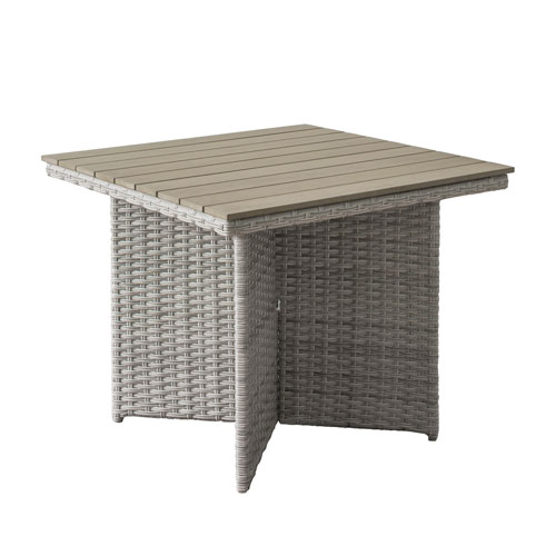 CorLiving Weather Resistant Resin Wicker Patio Dining Table