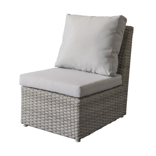 Weather Resistant Resin Wicker Armless Patio Chair
