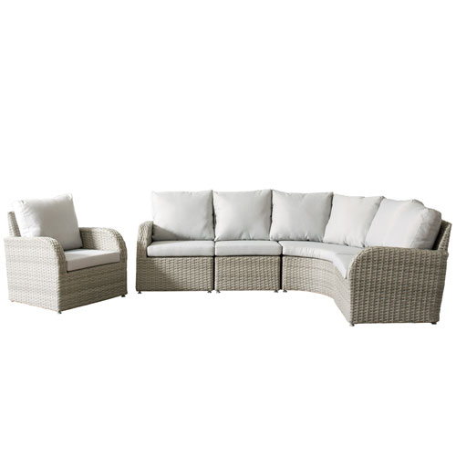 Weather Resistant Resin Wicker 5 Piece Patio Set