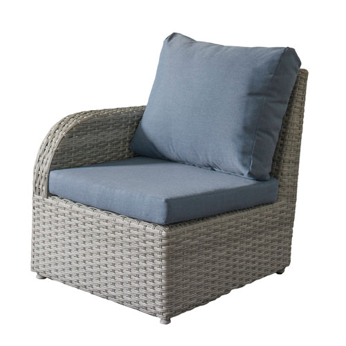 Weather Resistant Resin Wicker Left ArPatio Chair