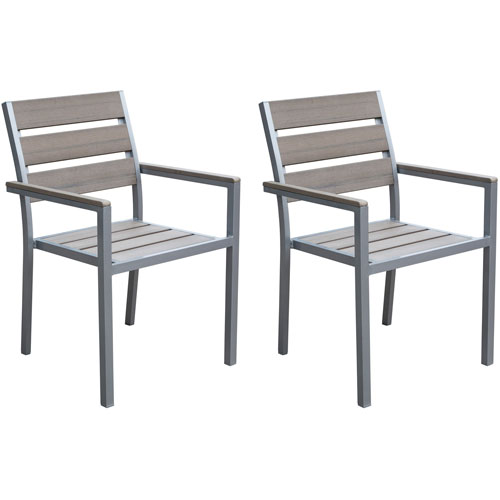 Gallant Sun Bleached Grey Outdoor Dining Chairs, Set of 2