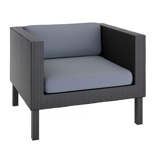 Oakland Textured Black Weave Outdoor Patio Chair