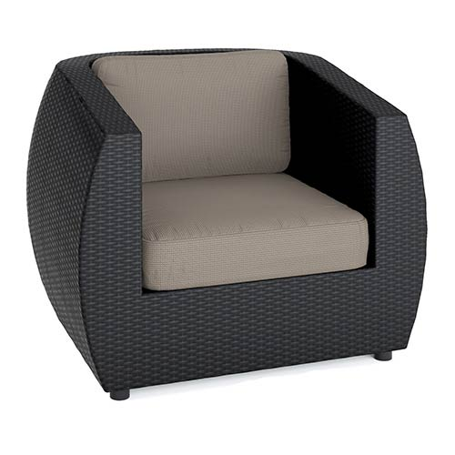 Seattle Textured Black Weave Outdoor Patio Chair