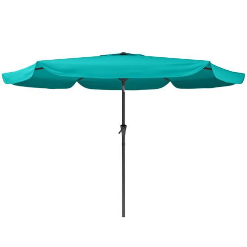 CorLiving Tilting Patio Umbrella in Turquoise Blue