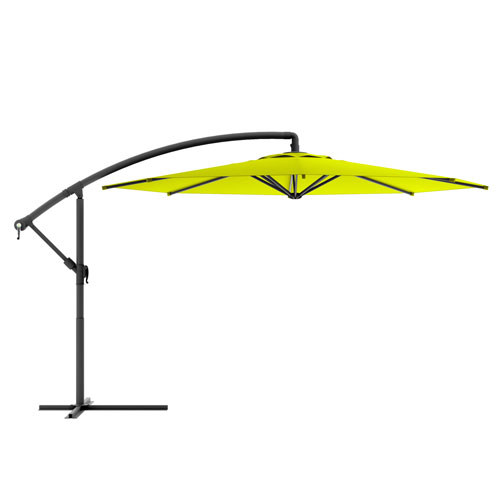 Offset Patio Umbrella in Lime Green