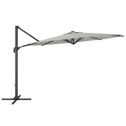 Deluxe Offset Patio Umbrella in Sand Grey