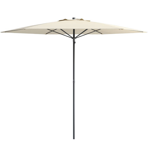 Charmant CorLiving UV And Wind Resistant Beach/Patio Umbrella In Warm White