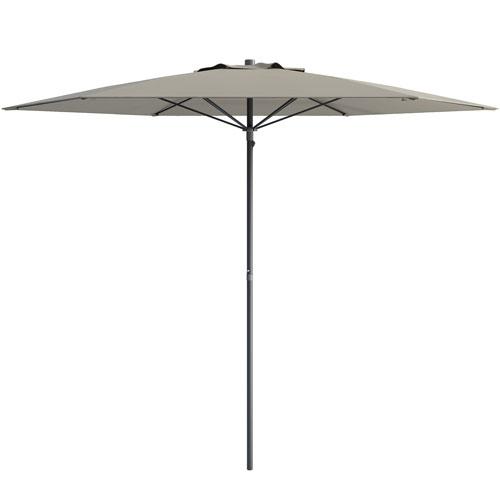 UV and Wind Resistant Beach/Patio Umbrella in Sand Grey