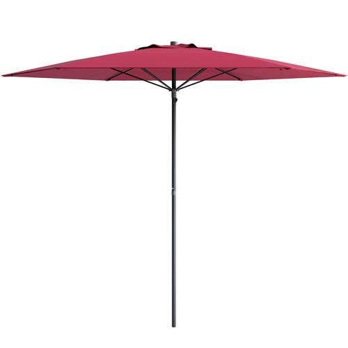 CorLiving UV and Wind Resistant Beach/Patio Umbrella in Wine Red