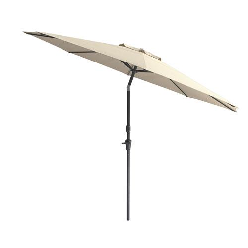 Wind Resistant Tilting Patio Umbrella in Warm White