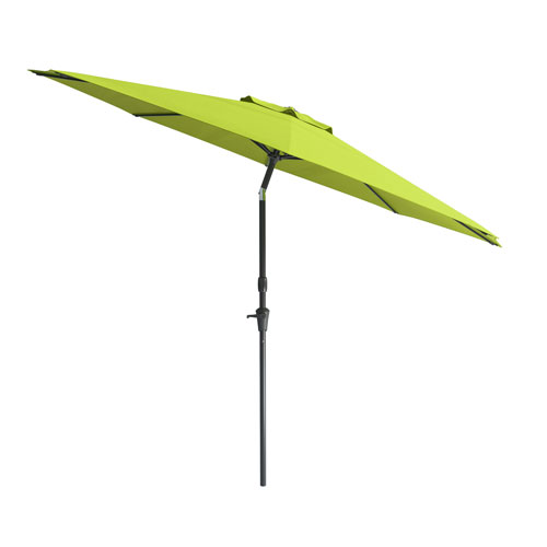 CorLiving Wind Resistant Tilting Patio Umbrella In Lime Green