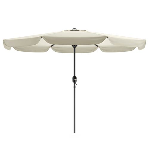 CorLiving Warm White Outdoor Patio Umbrella