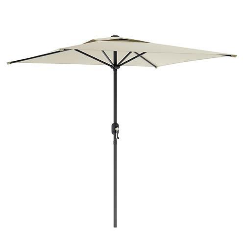Warm White Square Outdoor Patio Umbrella